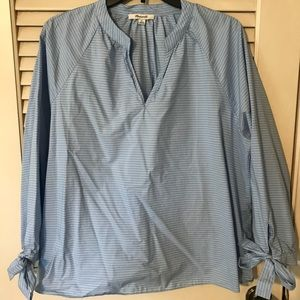 NWOT Madewell Blouse with Tied Sleeves